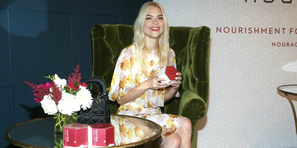 Jaime King arrives at the relaunch of Nourage's new formula to benefit Locks of Love